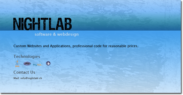 nightlab.ch - software and webdesign